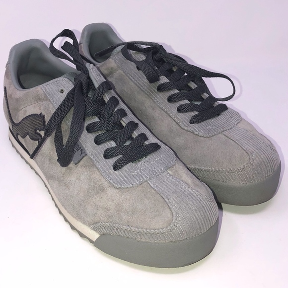 NEW Puma Roma gray Suede sz 39 US 8.5 lace up 70a2d459f